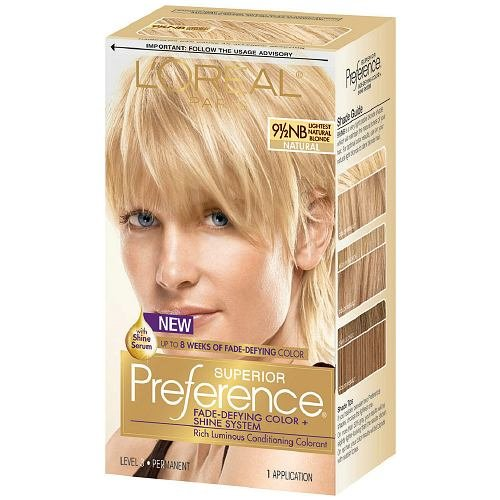 L'Oreal Paris Superior Preference Permanent Hair Color, Lightest Natural Blonde 9.5NB 1.0 ea(pack of 12)