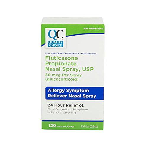 3 Pack Quality Choice Fluticasone Propionate Allergy Nasal Spray 0.54oz Each