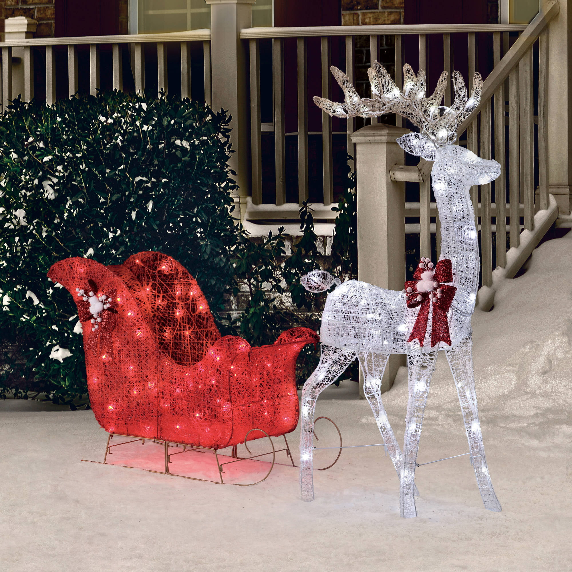 "Christmas Outdoor Decoration Pre Lit Deer 52"" Reindeer 40"