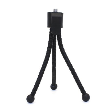 Collapsible Metal Tube Tripod Mobile Phone Selfie Stand Mini Smartphone Holder Small Telescopes Tripods Photography Accessory (Small Camcorder Tripod)