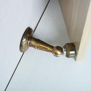 Home Restaurant Zinc Alloy Doorstops Door Stop Hardware Walls and Doors Protector Brass Tone