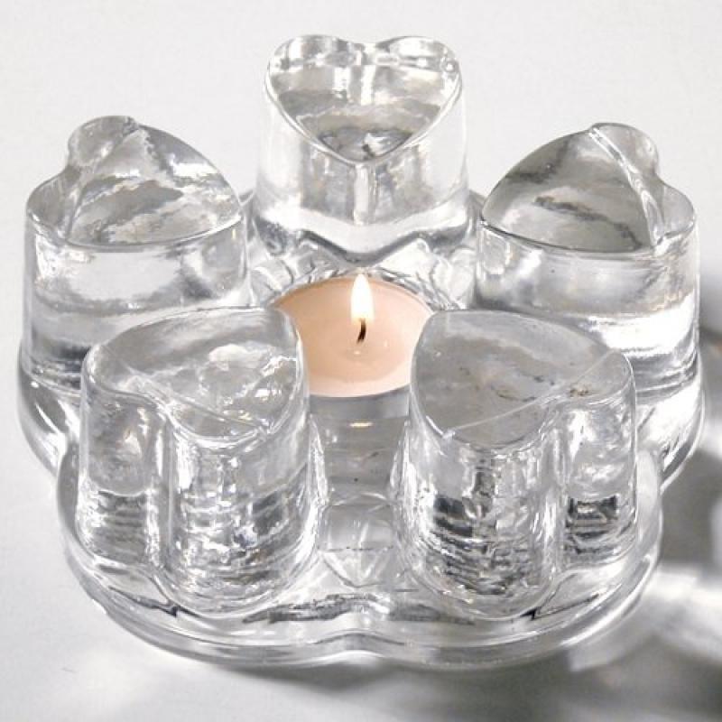 Unique Glass Heart Teapot Warmer