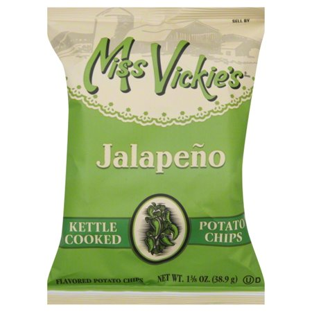 Miss Vickie's Kettle Cooked Jalapeno Potato Chips, 1.375 oz Bag, 64/Carton](No Cook Halloween Snacks)