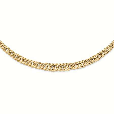 Graduated Curb Link (14K Yellow Gold 11.4 MM Polished Fancy Graduated Curb Link Chain Necklace, 18