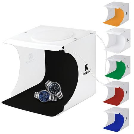 WALFRONT Portable Photo Studio Box Kit, Mini Folding Photography Studio Shooting Tent Light Box with 6Pcs - Portable Lighting Studio