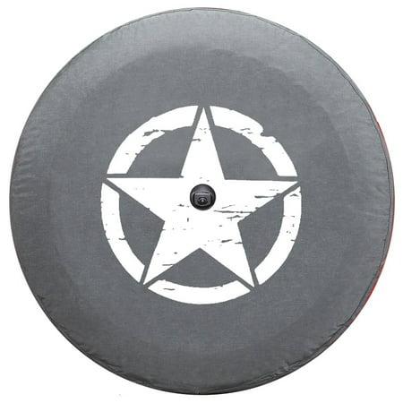 Wrangler Tire Covers (SpareCover  br-wrJL-STAR-32-white WHITE Jeep Star Brawny Series 32