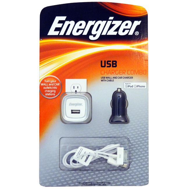 Energizer USB iPhone Charger Combo by Energizer Batteries