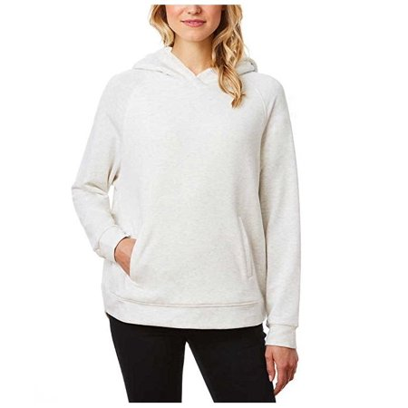 - Weatherproof 32 Degrees Womens Sherpa Lined Raglan Hoodie (White, XX-Large)