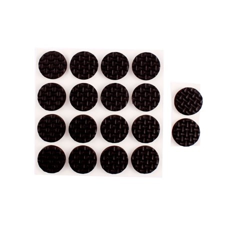 Unique Bargains 18 Pcs Foam Round 18mm x 4mm Self Adhesive Chair Foot Cover Table Furniture Leg Protector Black ()
