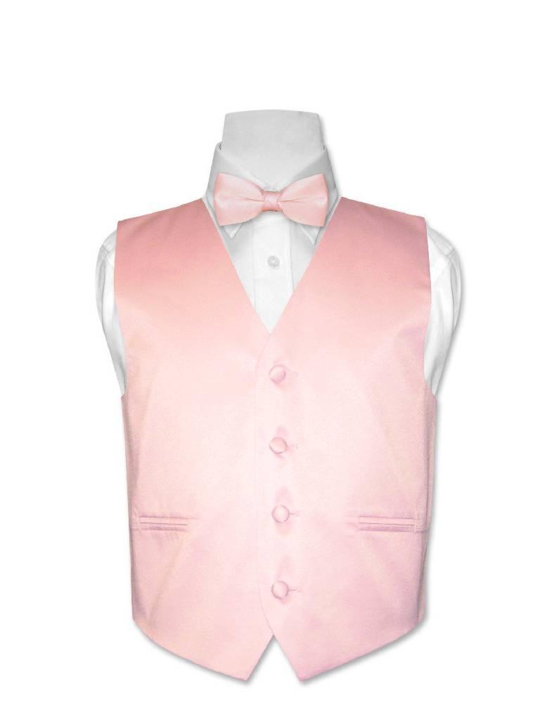 Covona BOY'S Dress Vest BOW TIE Solid PINK Color BowTie Set sz 10