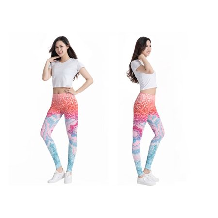 f62819aa68 Lotus High Waist Flower Elastic Fitness Leggings for Yoga and Training- By  Acletix | Blue ...