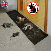 """Jumbo Mouse Glue Traps, Rat Glue Trap Sticky Boards Catcher Professional Strength Glue for Mice/Insect / Lizard/Spider / Snake/Cockroach / Rodent, 11""""x48"""""""