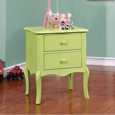 Furniture of America Lexie Traditional Style Night Stand Apple Green