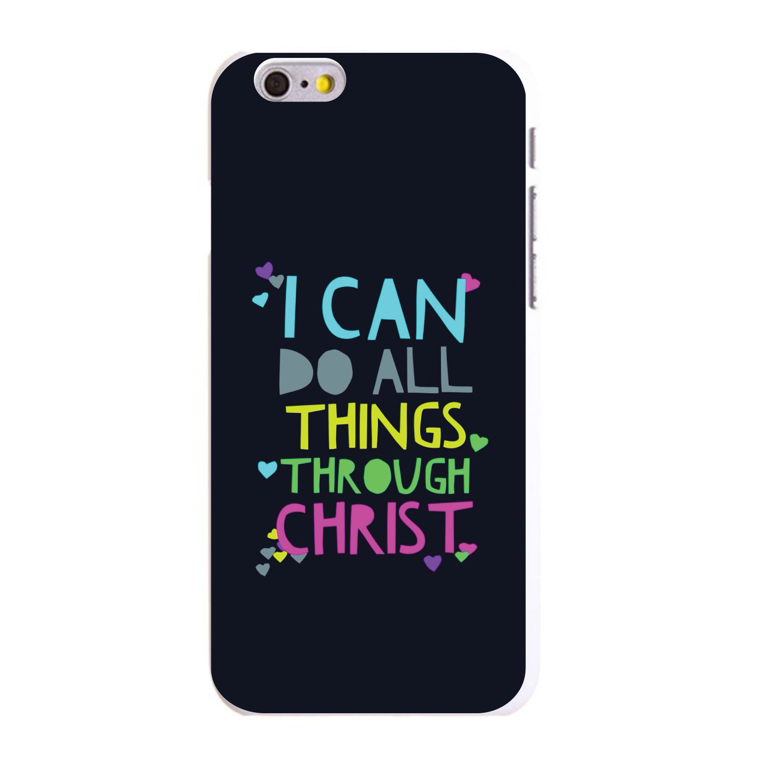 "CUSTOM White Hard Plastic Snap-On Case for Apple iPhone 6 PLUS / 6S PLUS (5.5"" Screen) - I Can Do All Things Through Christ"