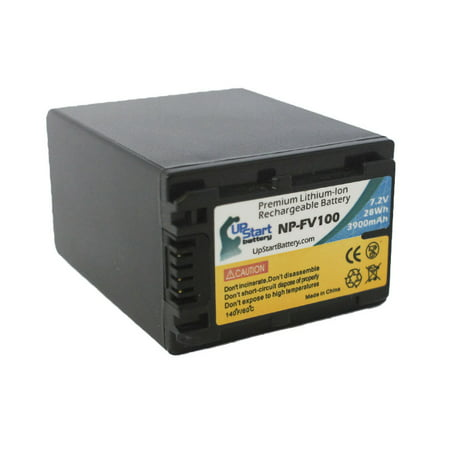 Sony DCR-HC30 Battery and Charger - High Capacity Replacement for Sony NP-FV100 Digital Camera Batteries and Chargers (3900mAh, 7.2V, Lithium-Ion) - image 2 de 3