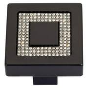 Atlas Homewares 3192-BL Inset Czech Crystal Square Cabinet Knob
