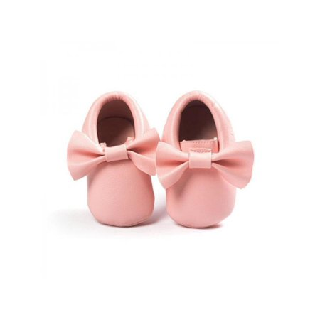 Fysho Baby Fringe Bow knots Leather Soft Crib Shoes