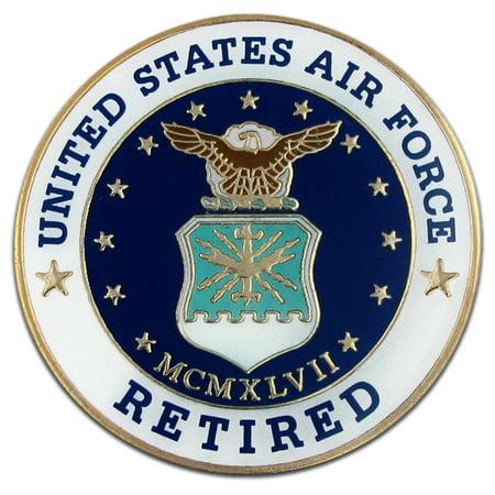 PinMart's U.S.A.F Air Force Retired Military Enamel Lapel Pin