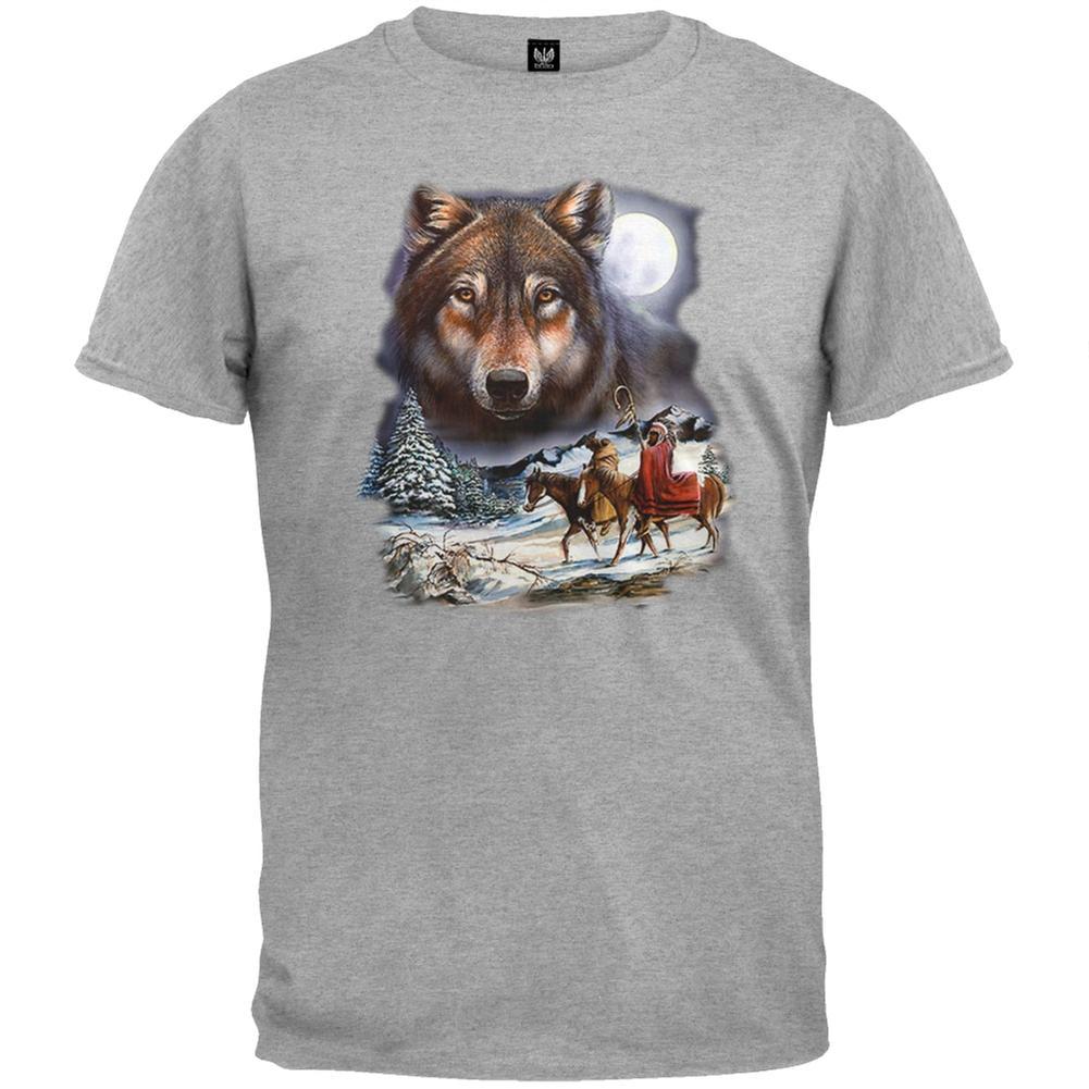 Old Glory She Wolf Night Sky Landscape Toddler T Shirt