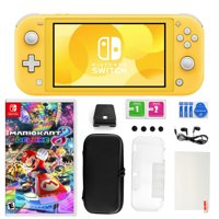 Nintendo Switch Lite in Yellow with Mario Kart 8 Deluxe and 11 in 1 Accessories Kit