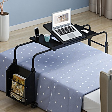 CHICIRIS Laptop Desk Medical Overbed Bedside Table Sofa End C Table TV Trays Table Adjustable Height for Computer Breakfast Table