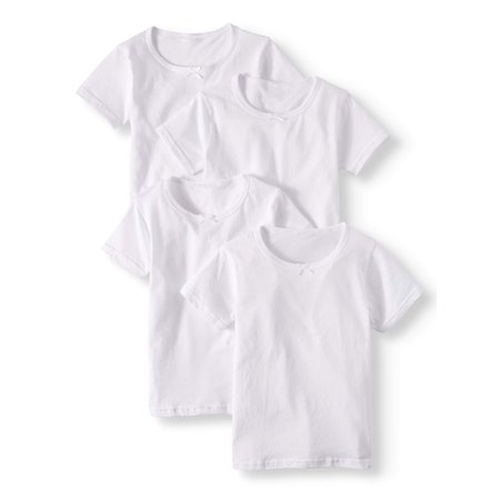 Chili Peppers Girls Cotton Tees, 4-pack