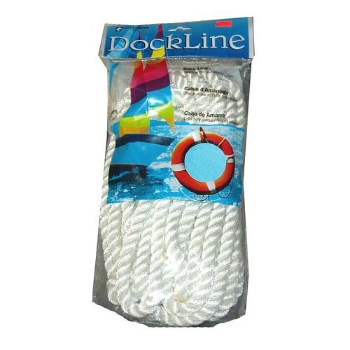 """Click here to buy Unicord White 3 8"""" x 20' Nylon Twist Boat Dock Lines (1 Pair) by Unicord."""