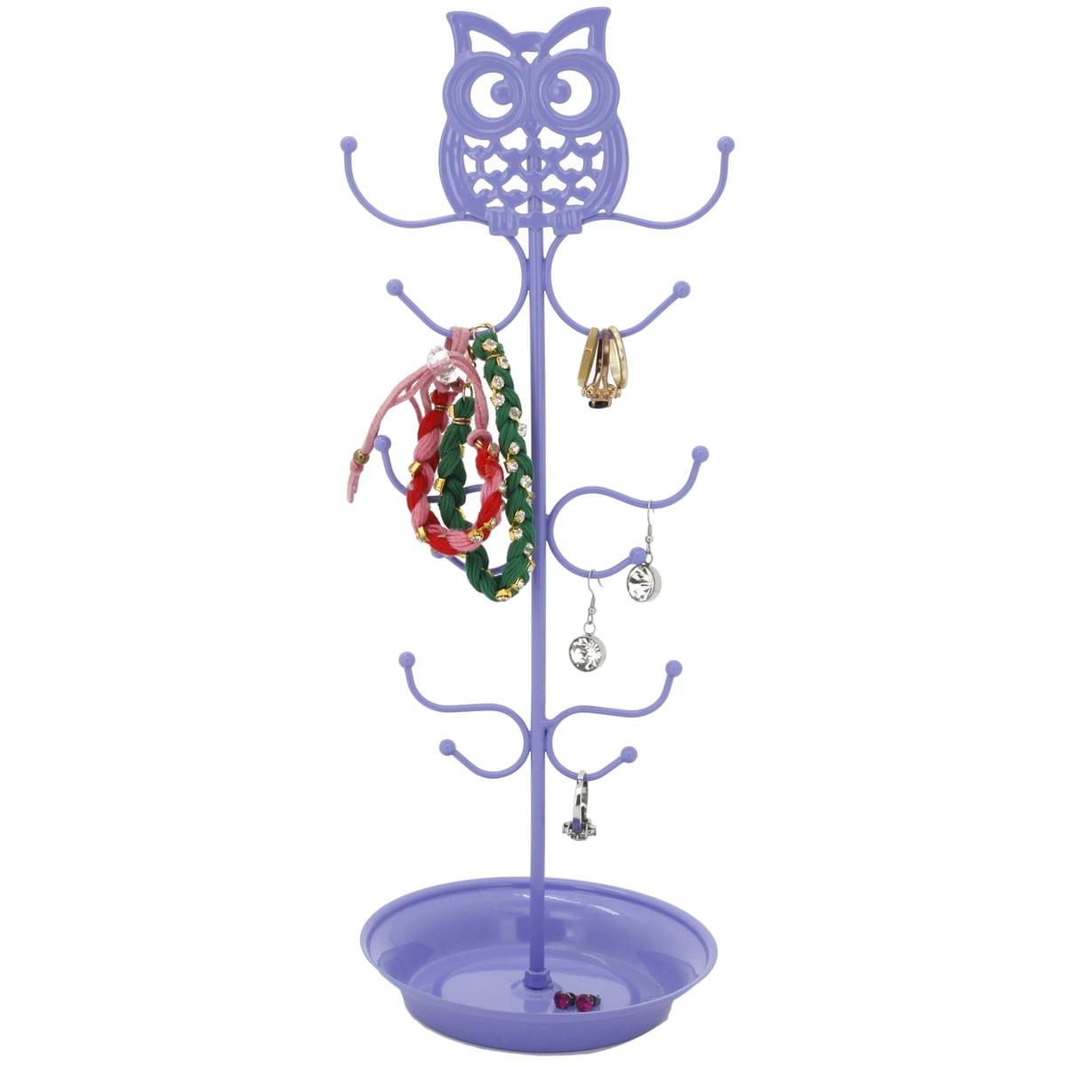 Cute Jewelry Strand Holder Owl -Purple