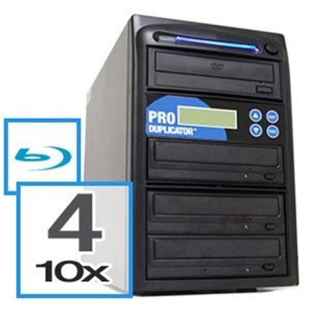 Produplicator A4BR10X500G 4 Blu-Ray Drive BD-CD-DVD Duplicator Plus Built-In 500GB HDD Plus USB Connection
