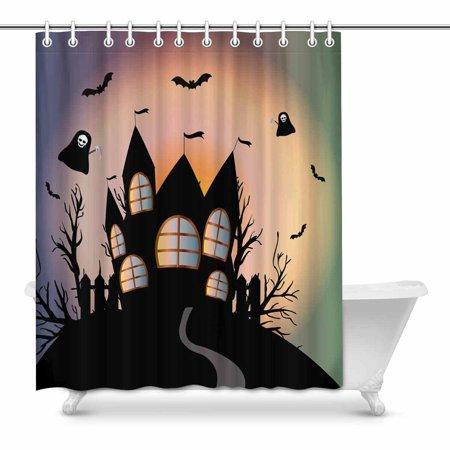 POP Happy Halloween Shower Curtain Bathroom Decor Set 60x72 inch - image 1 of 1