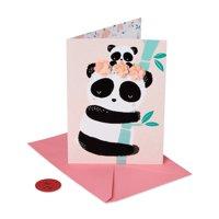 American Greetings Premier Panda New Baby Greeting Card with Foil