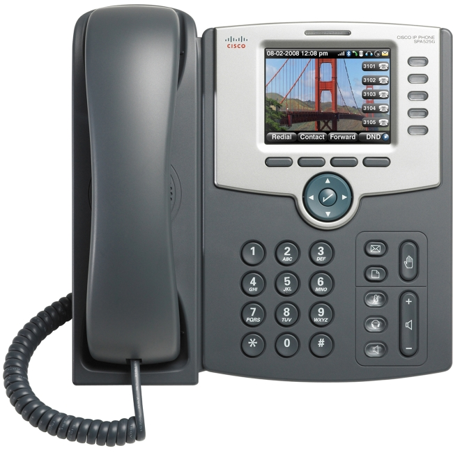 Cisco SPA525G2 5-Line IP Phone with Color Display by Cisco