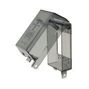 Arlington - Dri-Box Adapters with Non-Metallic Cover and Base - Vertical - Single Gang - Clear - DBPV1C