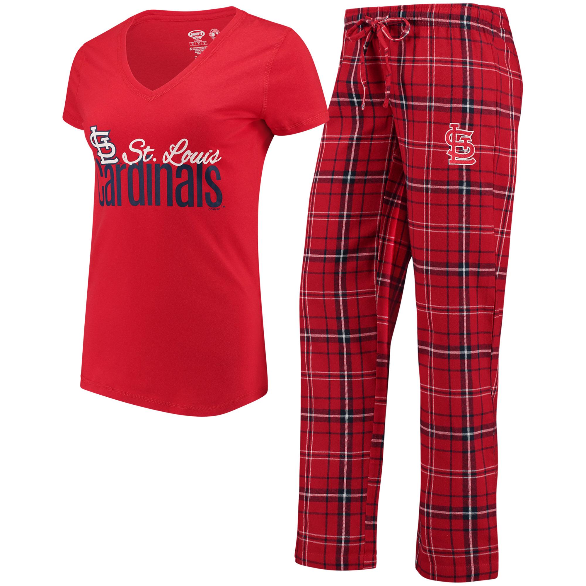 St. Louis Cardinals Womens Short Sleeve Top and Pant Sleep Set