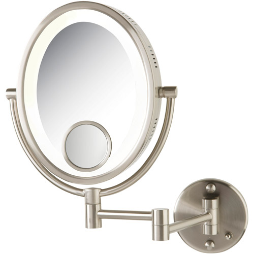 Wall Mounted Magnifying Mirror 15x jerdon hl9515n 8-inch two-sided swivel oval halo lighted wall