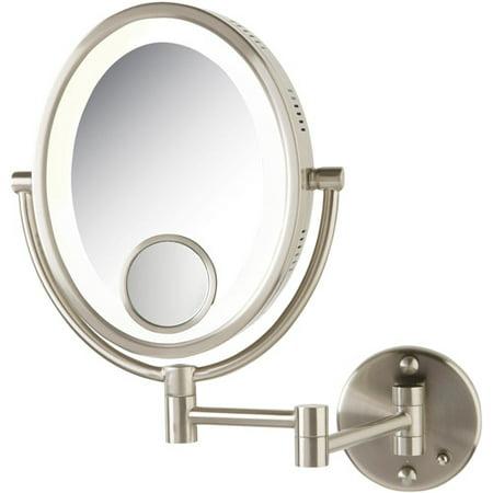 floxite 15x lighted makeup mirror search. Black Bedroom Furniture Sets. Home Design Ideas