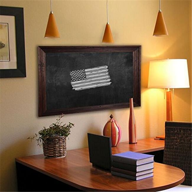 Rayne Mirrors B174260 American Made Barnwood Brown Blackboard & Chalkboard, 47.75 x 65.75 in.
