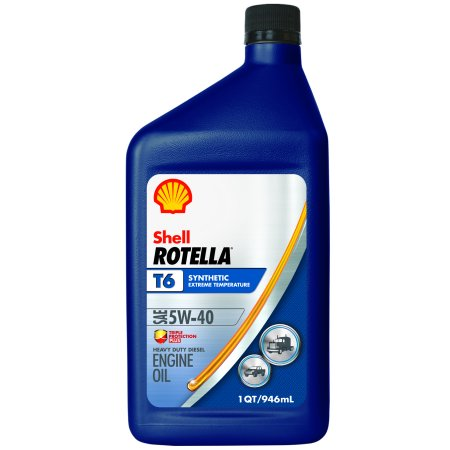 Shell rotella 5w 40 synthetic motor oil 1 qt for 5 w 40 motor oil