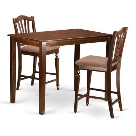 East West Furniture Yarmouth 3 Piece Counter Height Pub