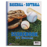 BSN SPORTS Oversized Baseball & Softball Scorebook (24 Games)