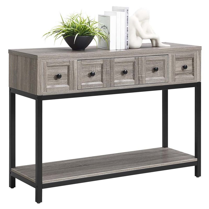 Ameriwood Home Barrett Console Table in Sonoma Oak by Ameriwood Home