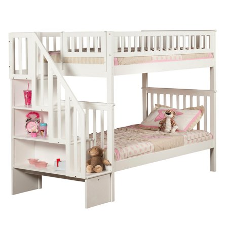Woodland Staircase Bunk Bed Twin Over Twin In Multiple