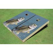 Bass out of Water Cornhole Board set