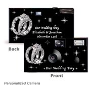 10Pack-Personalized Shimmering Engagement on Black  Disposable Cameras. Free shipping.  Wedding Cameras, Event Cameras, from CustomCameraCollection WM-53680-P