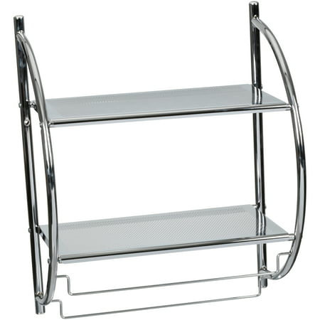 Neu Home® 2 Tier Mounting Shelf with Towel Bars (Iso Towel Bar)