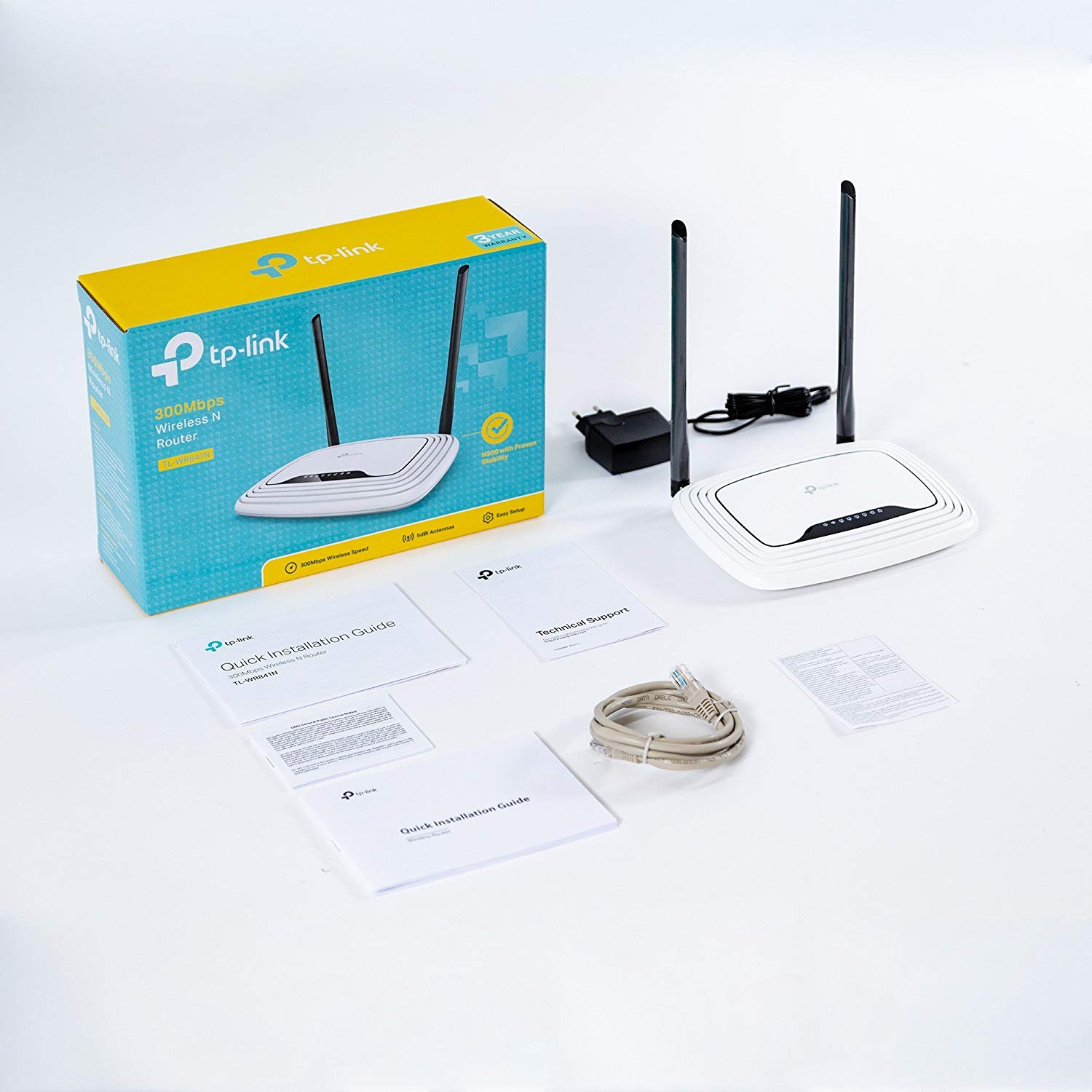 TL-WR841N 2 x 5dBi High Power Antennas TP-Link N300 Wireless Wi-Fi Router