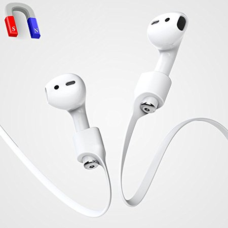 Airpods Strap, iAbler Airpods Magnetic Strap iPhone 8 / 8 Plus / X / 7 / iPhone 7 Plus AirPods Sports Strap Wire Cable Connector for Apple Airpods Like a Necklace with Your AirPods. Airpods Strap, iAbler Airpods Magnetic Strap iPhone 8 / 8 Plus / X / 7 / iPhone 7 Plus AirPods Sports Strap Wire Cable Connector for Apple Airpods Like a Necklace with Your AirPods.