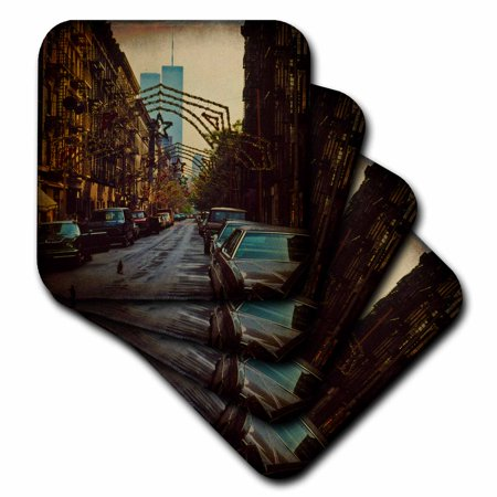- 3dRose Little Italy World Trade Center , Soft Coasters, set of 8