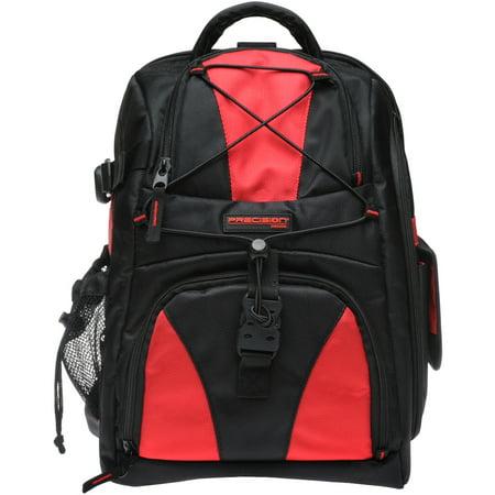Precision Design Multi-Use Laptop / Tablet Digital SLR Camera Backpack Case (Black/Red)