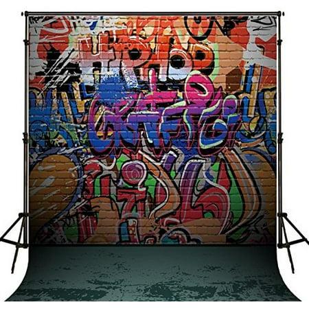 GreenDecor Polyster 5x7ft hip hop photo backdrop wall - Backdrop City Hip Hop